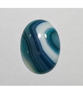 Cabujón Agata Azul Bandeada Oval ( 2 Piezas ) 30x22mm.-Ref.216CB