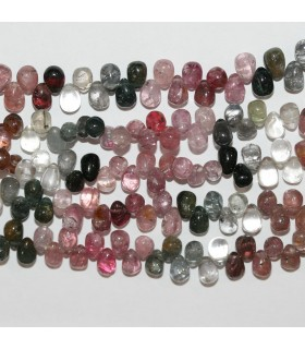 Multicolor Spinel Smooth Drop 6x4mm.-Strand 22cm.-Item.10372