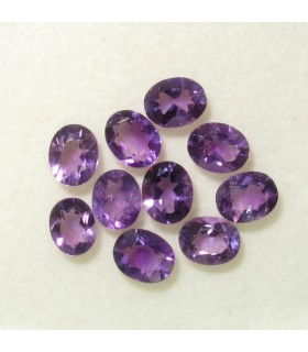 Lote Amatista Oval Facetado 5x4 mm.- Ref: 099LO