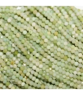 Jade Faceted Round Beads 2mm.-Strand 33cm.-Item.10387
