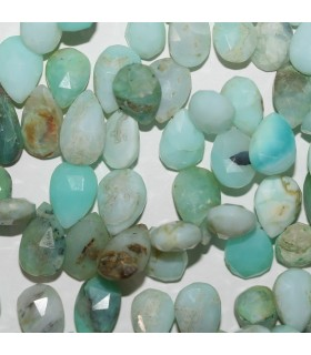 Peruvian Opal Faceted Drop 13x8mm.Approx.-Strand 18cm.-Item.10391