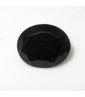 Black Spinel Faceted Oval 11x9 mm. (1 pc.).- Item: 201PE