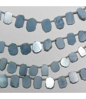 Opalo Azul Oval Irregular Liso 10x7mm.Aprox.-Hilo 21cm.-Ref.10399
