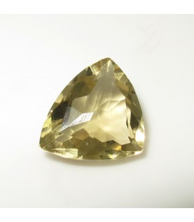 Lemond Quartz Faceted Trillion (6.1 ct.).- Item: 211PE