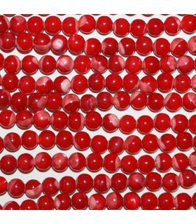 Nacar Rojo Bola Lisa 6mm.-Hilo 40cm.-Ref.10406