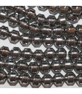 Hematite Plateado Bicono Liso 4mm.-Hilo 40cm.-Ref.10413