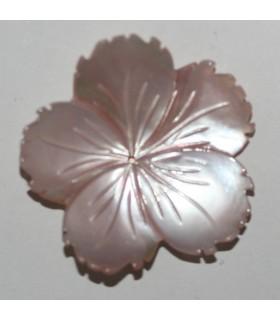 Colgante Nacar Rosa Flor 30mm.-Ref.10476