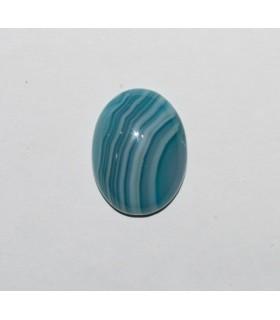 Cabujón Agata Azul Bandeada Oval ( 4 Piezas ) 20x15mm.-Ref.229CB