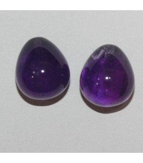 Amethyst Half Drilled Drop 15x13mm.( 1 Pairs )-Item.10489