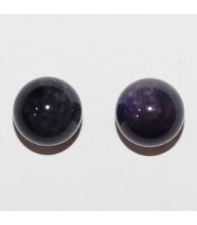Amethyst Half Drilled Round Beads 8mm.(5 Pairs) Item.10491