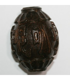Wood Carved Pendant 54x40mm.Approx.-Item.10492
