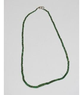 Esmerald Faceted Graduated Rondelle Necklace 2x1.5-5x3mm.-Item.3718