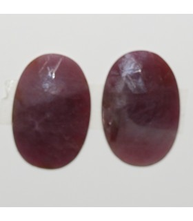Ruby Faceted Oval Cabochon 23x15.52 mm. 1 Pair (23.3 ct.).- Item: 289PE
