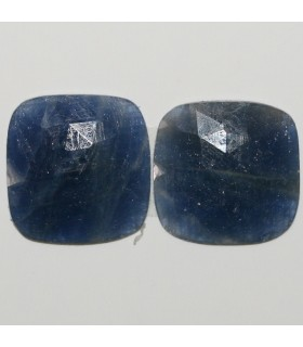 Sapphire Faceted Square Cabochon 14.5mm. 1 Pair (11.9 ct.).- Item: 294PE