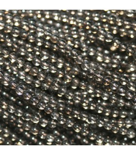 Cuarzo Ahumado Bola 2mm -Hilo 38cm- Ref. 1254