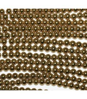 Hematite Dorado Bola Lisa 3mm.-Hilo 40cm.-Ref.10504