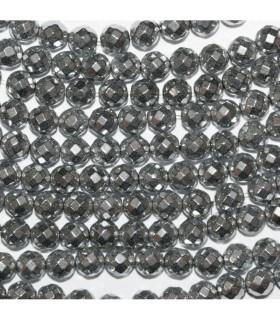 Hematite Plateado Bola Facetada 4mm.-Hilo 40cm.-Ref.10505