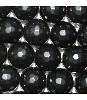 Azabache Bola Facetada (128 facetas) 10mm -Hilo 40cm- Ref.3289