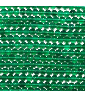 Green Onyx Round Beads 4mm.-Strand 33mm.-Item.10544