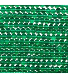 Onix Verde Bola Lisa 4mm.-Hilo 33mm.-Ref.10544