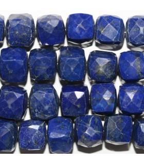 Lapis Lazuli Cubo Facetado 8-9mm.-Hilo 21cm.-Ref.10551
