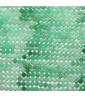 Chrysoprase Faceted Round Beads 3mm.-Strand 33cm.-Item.10545