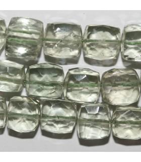 Amatista Verde ( Prasiolita ) Cubo Facetado 7-8mm.-Hilo 21cm.-Ref.10549