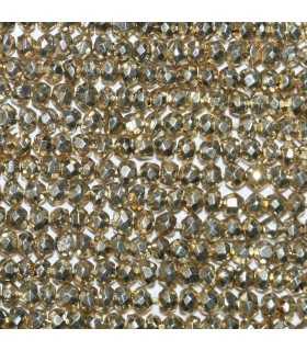 Gold Pyrite Faceted Rondelle 2.5x1.5mm.-Strand 34cm.-Item.10550