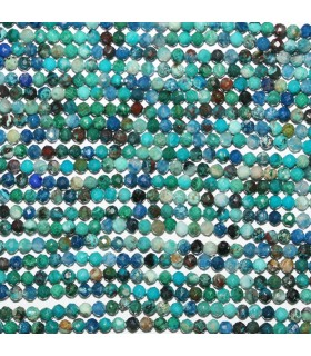 Crysocolla Faceted Round 2mm.-Strand 32cm.-Item 10554