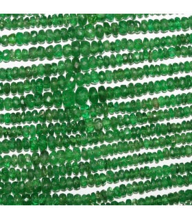 Tsavorite Garnet Graduated Faceted Rondelle 2x1.5-4x2mm.Approx..-Strand 33cm.-Item.10574