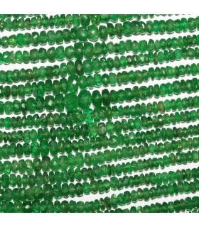 Tsavorite Garnet Graduated Faceted Rondelle 2x1.5-4x2mm.Approx..-Strand 33cm.-Item.10574