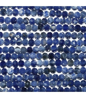 Sodalite Faceted Round Beads 2mm.-Strand 39cm.-Item.10188