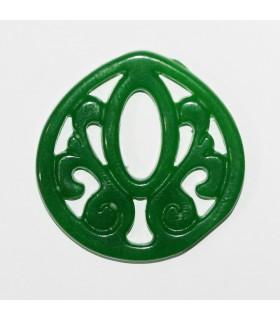 Colgante Jade Verde 32mm.-Ref.1096JV