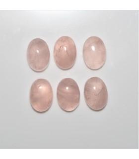 Cabujon Cuarzo Rosa Oval 10x14mm. (6 piezas).- Ref: 1096CB