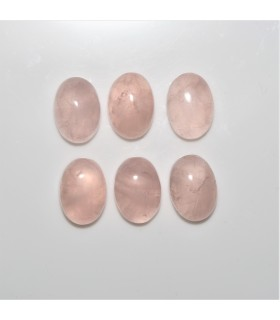 Rose Quartz Oval Cabochon 10x14mm. (6 pcs).- Ref: 1096CB