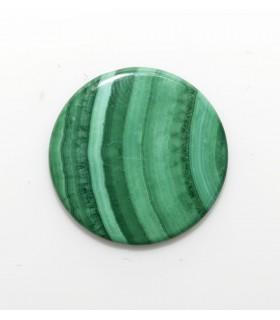 Malaquite Round Flat Cabochon 15 mm. (4 pcs.).- Ref: 11208CB