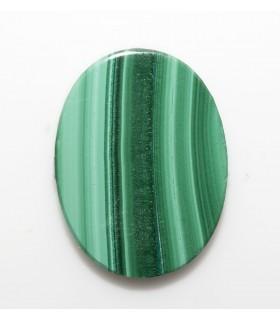 Cabujon Malaquita Oval Plano 16x12 mm. (2 piezas).- Ref: 1129CB