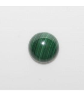 Cabujon Malaquita Redondo 10 mm. (6 piezas).- Ref: 1131CB