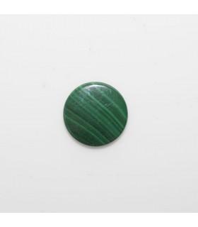 Malaquite Round Flat Cabochon 10mm. (6 pcs.).- Ref: 1132CB