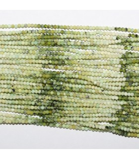 Green Jade Faceted Round Beads 2mm.-Strand 34cm.-Item.10519