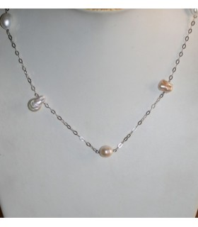 Collar Plata Y Perlas Barrocas Largo 88cm.-Ref.7376