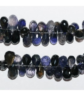 Iolite Graduated Faceted Drop 7x5-10x6mm.Approx.-Strand 21cm.-Item.10568