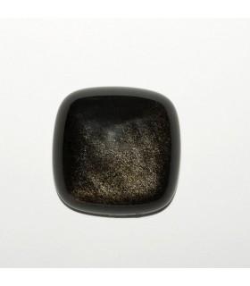 Cabujon Obsidiana Cuadrado 25mm (2 piezas).- Ref: 1087CB