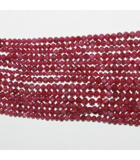 Ruby Graduated Faceted Round Beads 1-3mm.-Strand 40cm.-Item.10581