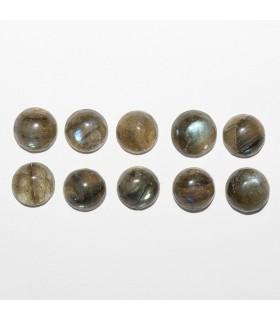 Labradorite Round Cabochon 7mm (10 pcs).- Ref: 1069CB