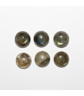 Labradorite Round Cabochon 9mm (6 pcs).- Ref: 1071CB