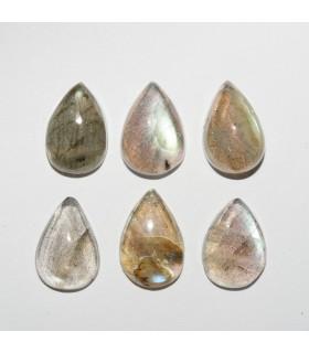 Labradorite Drop Cabochon 12x8mm (6 pcs).- Ref: 1078CB