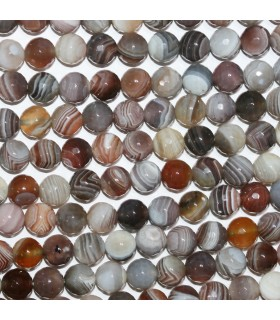 Botswana Agate Faceted Round Beads 8mm.-Strand 40cm.-Item.10593