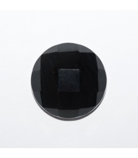 Onyx Round Faceted Cabochon 16mm (4 pcs).- Ref: 1179CB