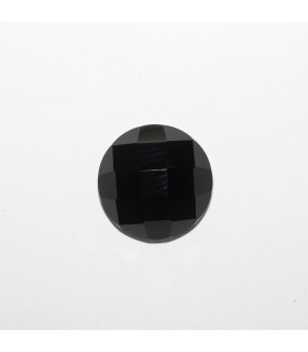 Onyx Round Faceted Cabochon 14mm (6 pcs).- Ref: 1180CB